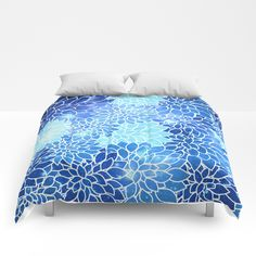 Buy Space Dahlias Sky Blue Comforters by vintageby2sweet. Worldwide shipping available at Society6.com. Just one of millions of high quality products available.