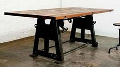 industrial chic living spaces | nuevo living hgda100 v3 dining table press leg in reclaimed wood wood ...