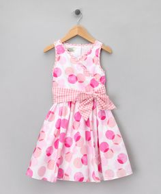 Celebrate a special occasion or make any day feel a bit fancy with this perfectly pretty cotton dress. Sure to become a fast favorite for all its darling detailing, the lining and roomy skirt allow little ladies to twirl in total comfort.Main: 100% cottonLining: 65% polyester / 35% cottonMachine wash