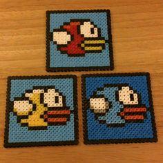 Flappy Bird coasters hama beads by princesshols23