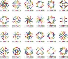 Logo for a new math museum. They took different math symbols and used bright, repetitive pattern to emphasize math can be fun. Unique, simple and beautiful design. Graphic Design Branding, Identity Design, Logo Design, Infinite Logo, Math Logo, Circle Rainbow, Infographic Website, Math Art, Great Logos