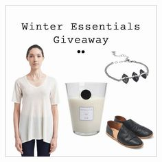 A pair of beek's new all-leather shoes, a luxurious cashmere tee from Valentina Kova, one of our favorite candles from Voyage et Cie and a beautiful stone and chain bracelet from Chan Luu. Enter now!