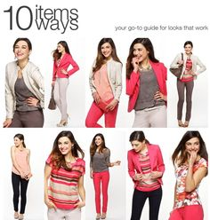 10 items 10 ways | Rickis has a new 10 items 10 ways up on their site. Love the colours!