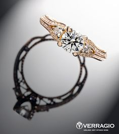 Verragio LOVE - we get the best of both worlds a beautiful face-up view of our hearts and arrows diamond and the romantic silhouette of a Verragio design.my ring is different but same designer with amazing side details, definitely doing this. Verragio Engagement Rings, Designer Engagement Rings, Bling Wedding, Wedding Rings, Jewelry Rings, Silver Jewelry, Thing 1, Beautiful Rings, Diamond Cuts