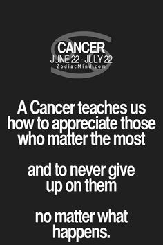 Daily Horoscope Cancer Appreciate who matters the most