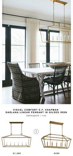 Visual Comfort E.F. Chapman Darlana Linear Pendant