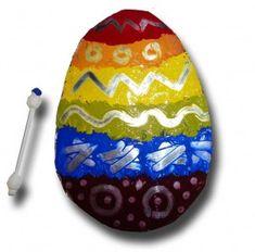 Painted Aluminium Foil Easter Egg