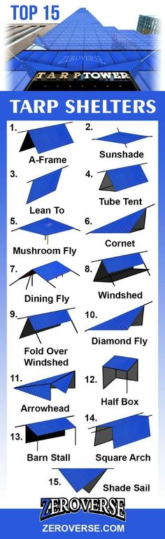 Top 15 Tarp Shelters http://campingtentslovers.com/best-cabin-camping-tents/