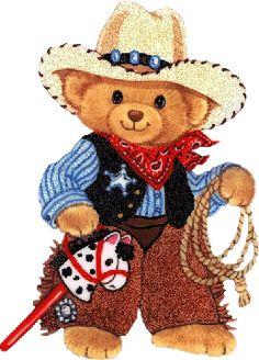 COWBOY TEDDY BEAR GIF