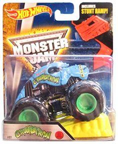 Hot Wheels Monster Jam Scale Crushstation with Stunt Ramp Monster Jam, Monster Trucks, Pj Masks Birthday Cake, Bounty Hunter, Stunts, Old And New, Hot Wheels, Gabriel, Party Time