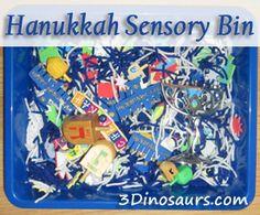 Hanukkah Sensory Bin