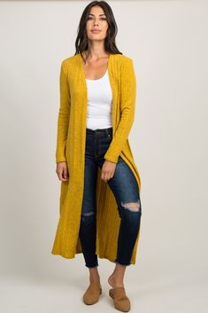 Yellow Soft Knit Duster Cardigan Yellow Soft Knit Duster Cardigan Yellow Soft Knit Duster Cardigan The post Yellow Soft Knit Duster Cardigan appeared first on New Ideas. Mustard Cardigan Outfit, Yellow Cardigan Outfits, Casual Skirt Outfits, Trendy Outfits, Fashion Outfits, Outfit Jeans, New Hijab, Cardigans For Women, Women's Cardigans