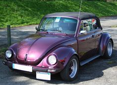 purple volkswagen beetle convertible - I need to own this - PLEASE???