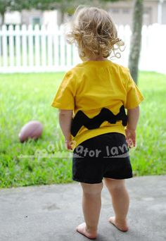 Charlie Brown Shirt Charlie Brown Costume Baby Charlie Brown Yellow and Black Toddler Halloween Costum Baby Halloween Costume. $22.00, via Etsy.