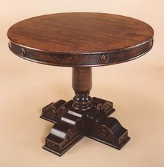Drum Table on Single Pedestal
