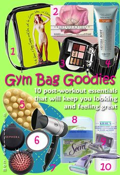 More gym bag essentials
