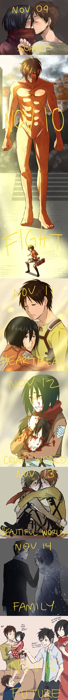 Well first mikasa holding erens head was creepy everything else yayaaaaaaaaaa