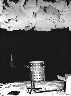 Marcel Duchamp Twelve Hundred Coal Bags Suspended from the Ceiling over a Stove 1938