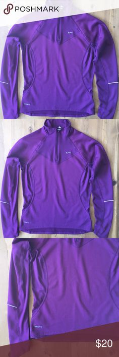Nike Fit and Dry Jacket Great condition great color 27 in long 17 in bust 26 in sleeve size small 4 to 6 in size Nike Jackets & Coats