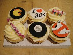 80′s Themed Cupcakes