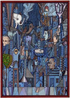 White Elephant (In The Blue City) by bigheadedrobot, via Flickr