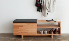 Love this Shoe Storage Bench for the entryway!
