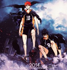~~ Stunning image, but where is the volleyball? Daisuga, Nishinoya, Oikawa, Kagehina, Kuroo, Kenma, Haikyuu, 2014 Anime, Upcoming Anime