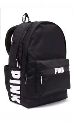 Brand New Victoria's Secret PINK Campus Backpack Black Brandneu Victoria's Secret PINK Campus Rucksack Schwarz Mochila Victoria Secret, Victoria Secret Backpack, Victoria Secret Bags, Mochila Adidas, Vans Rucksack, Backpack Bags, Vs Pink Backpack, Tote Bag, Black Backpack School