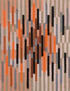 Adolf Fleischmann (German, 1892-1968),  Untitled, 1960. Gouache on brown paper, 63 × 48.5 cm.