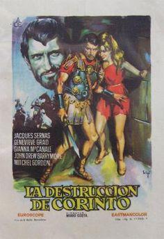 Folleto del film : LA DESTRUCCION DE CORINTO. SOLIGO.