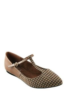 GC Shoes Fair Houndstooth Pointed Flats//