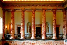 loveisspeed.......: Holkham Hall is an eighteenth-century country house located adjacent to the village of Holkham, on the north coast of the English county of Norfolk...  From...  http://loveisspeed.blogspot.com/2013/02/holkham-hall-is-eighteenth-century.html#