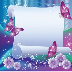Purple Butterfly Background   ... Butterfly Background Vector 300x300 Amazing Flowers and Butterfly