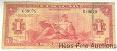 Scarce Curacao 1942 1 One Gulden Currency Note