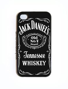 iPhone 4 4s Jack Daniel's Hard Snap On iPhone Case Available in Black or White