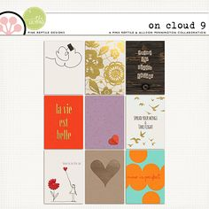 On Cloud 9   Journal Cards on sale today. Perfect little touches of sweet & elegance ... for digital and hybrid crafters alike!