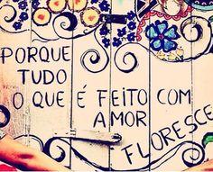 Amor... é um jardim que necessita ser bem tratado e acarinhado, para que nele cresça flor.!...