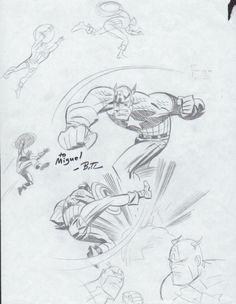Bruce TImm-Captain America Comic Art
