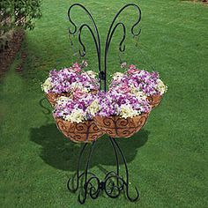Village Green Multi-Hanging Basket Plant Stand $20