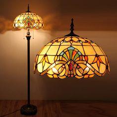 153cm/60″H Baroque Style Tiffany Floor Lamp | GbTiffany - Buy Tiffany Lamps From China