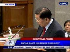 Resignation speech rejected by Senate