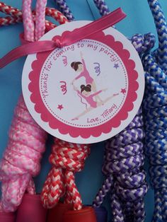 12 Gymnastics Birthday Party Favors Favor Tags by welcometomystore