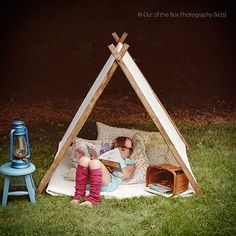 A play tent opens up a world of imaginative possibilities.