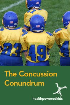 The Concussion Conundrum - Health Powered Kids Hands On Learning, Learning Activities, Brain Injury, Stress Management, Young People, Children, Kids, Health And Wellness, Teen