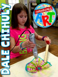 Dale Chihuly- This looks like so much fun! Great for art club!
