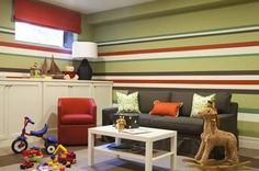 This is what I need to do in one of my extra bedrooms! Color scheme a little different than what i woud like but this is great!