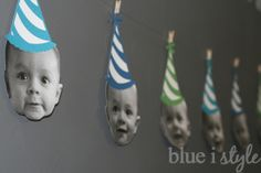 {blue i style} One Year in a Flash First Birthday Party Banner