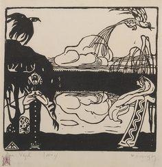 Collection Online | Vasily Kandinsky. Two Birds (Zwei Vögel). 1907 - Guggenheim Museum