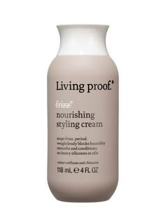 Plenty of defrizzers work—when it's not humid. Living Proof No Frizz Nourishing Styling Cream keeps the cuticle down, no matter the weather.