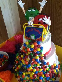 Simple fun wedding cake